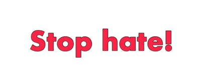 Main Topic 2017 – Stop Hate!