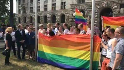 The rainbow flag was hoisted!