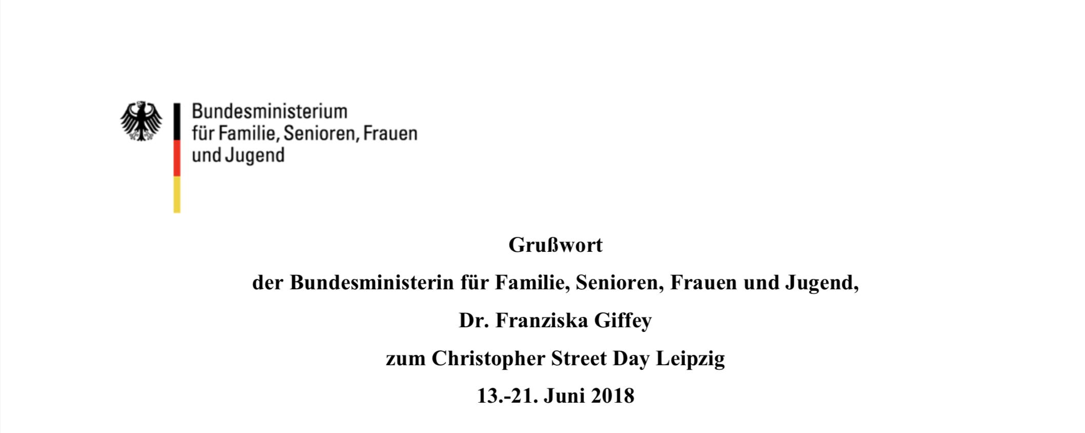 Grußwort Dr. Franziska Giffey