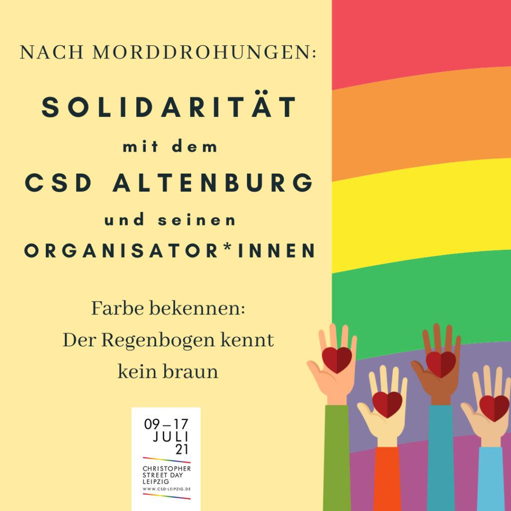 Solidarität mit dem CSD Altenburg